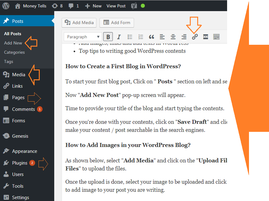 How to write a post in WordPress