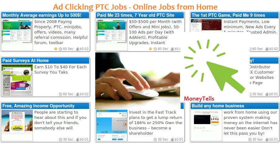 Online Jobs from home ad clicking jobs