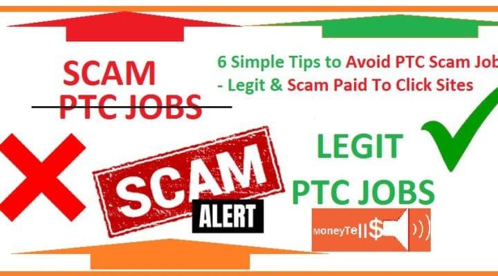 Avoid ptc scam jobs