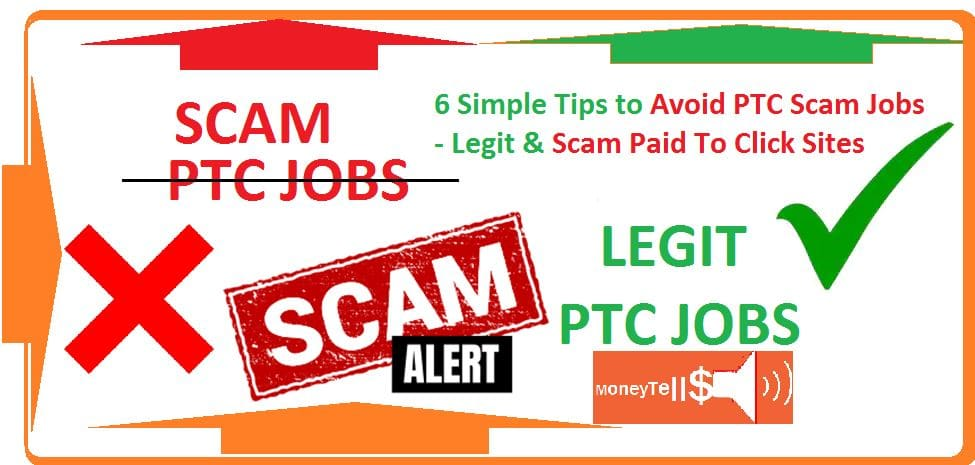 Avoid ptc scam jobs