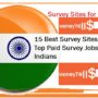 15 Best Survey Sites for India – Top Paid Survey Jobs Sites for Indians