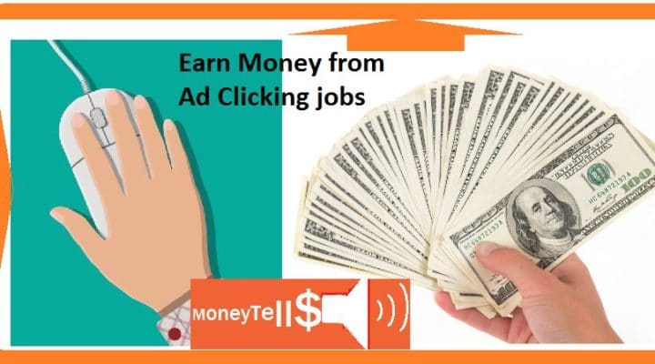 Earn money from Ad clicking jobs