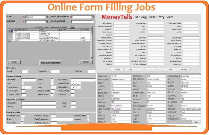 Form filling online jobs from home