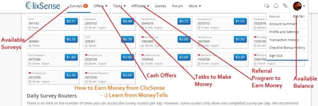 Make Money with ClixSense