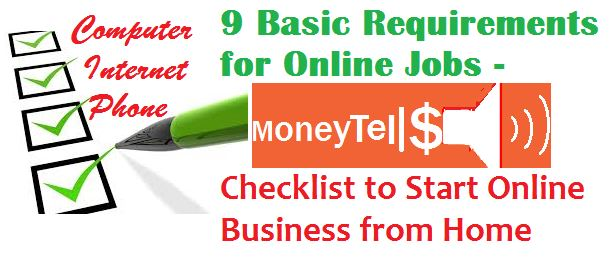 Basic requirements for online jobs