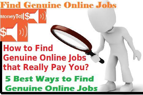 find genuine online jobs