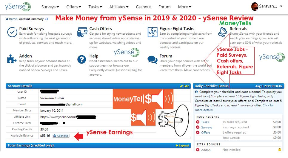 Make Money from ySense