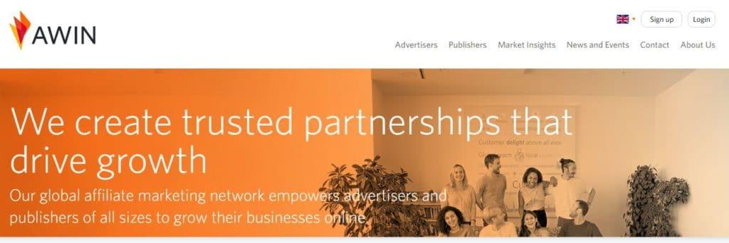 Genuine affiliate programs in AWIN