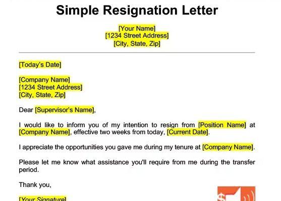 Write a Resignation Letter