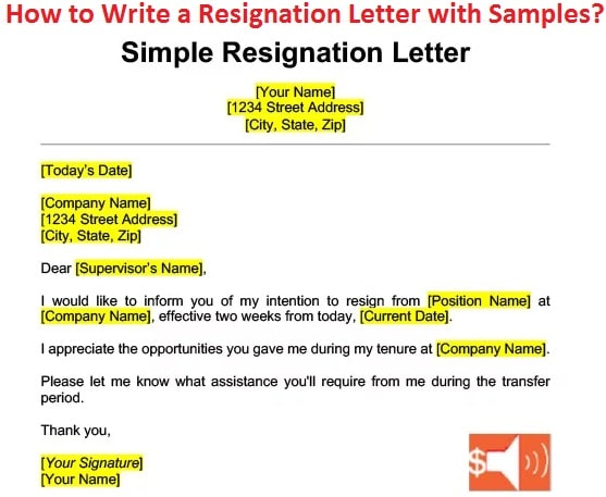 Write a Resignation Letter