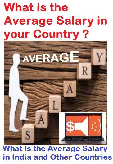 Average salary in India