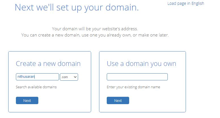 free domain name from bluehost