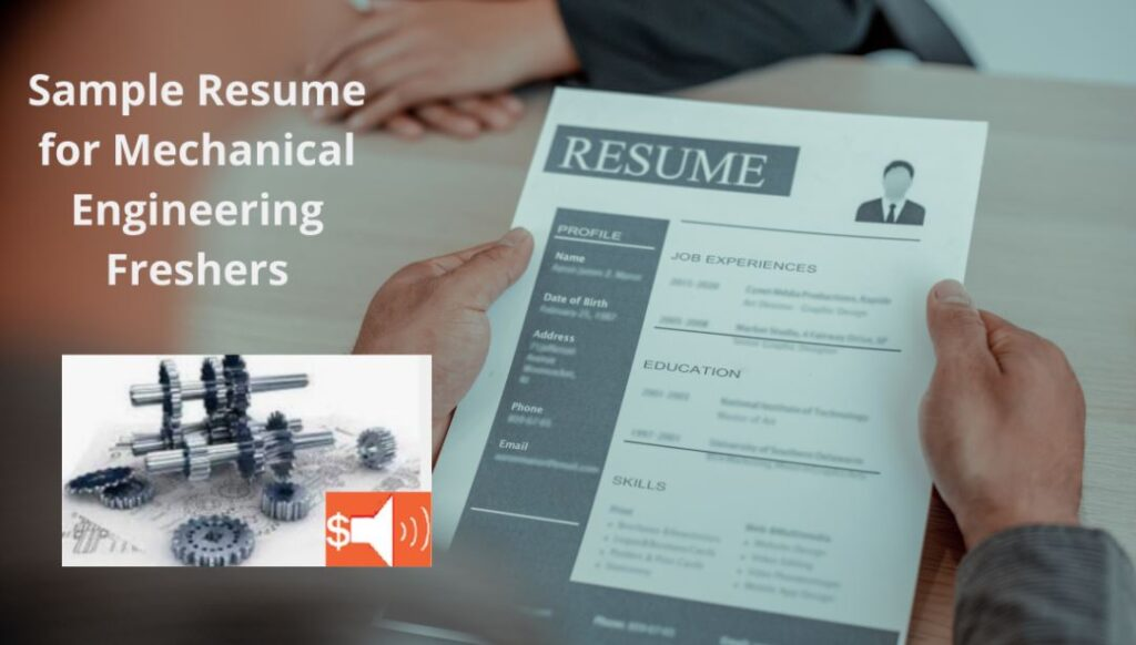 Resume for Mechanical Engineering Freshers