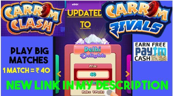Paytm Cash Earnings Apps Carrom Clash