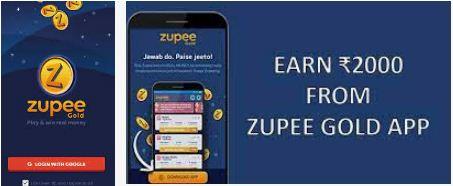 Zupee money earning mobile app in India